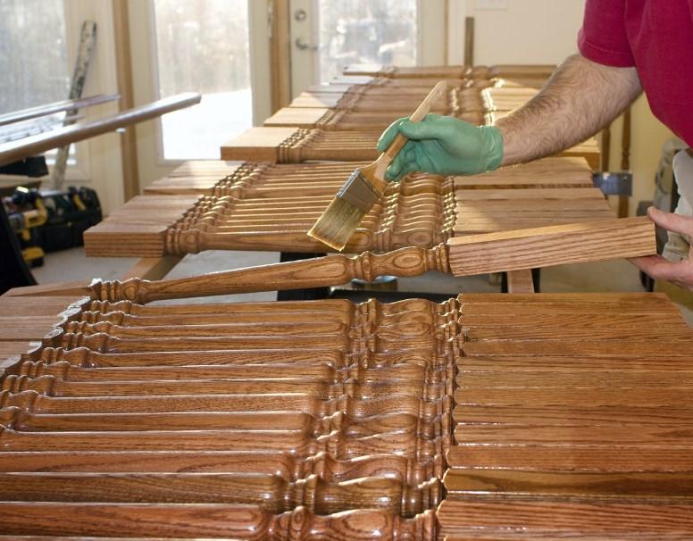 Последовательность действий при нанесении антисептика на древесину
