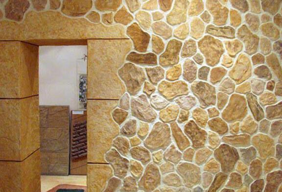 Эффект каменной кладки: штукатурка графито