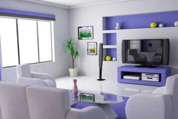 Модные тренды: покраска стен в два цвета