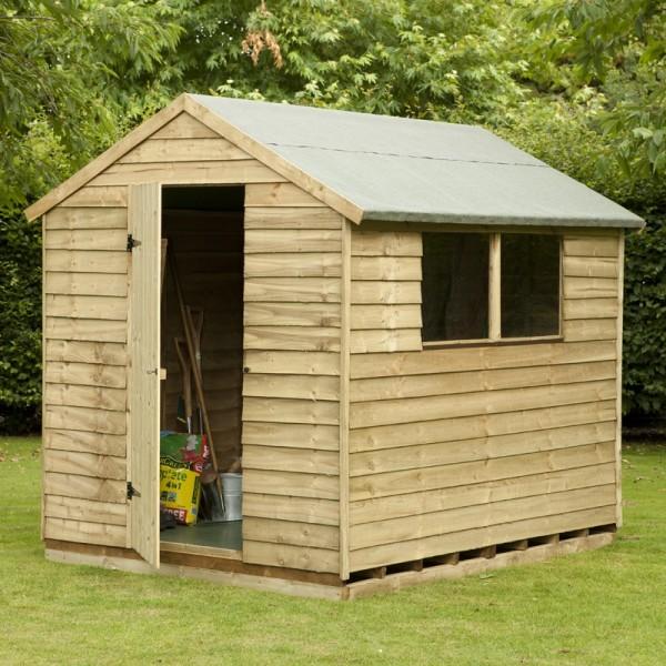 Деревянный сарай для дачи легко построить своими руками